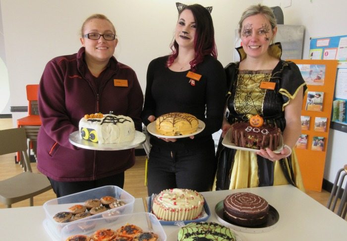 Sainsbury's staff dress up and hold Halloween bake off