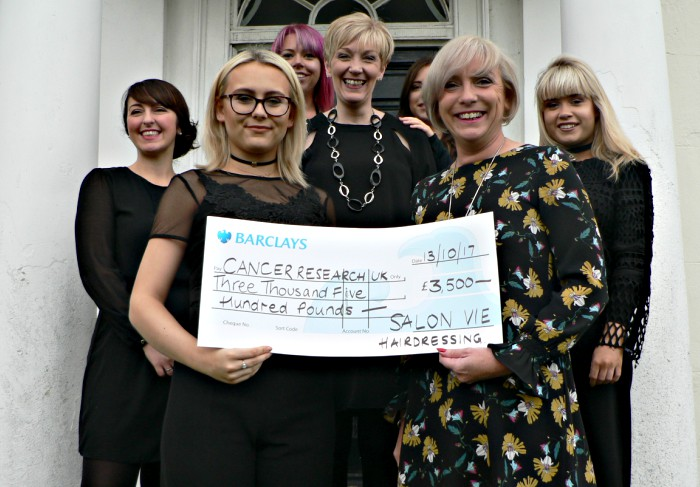 Salon Vie hairdressers raise Cancer Research funds