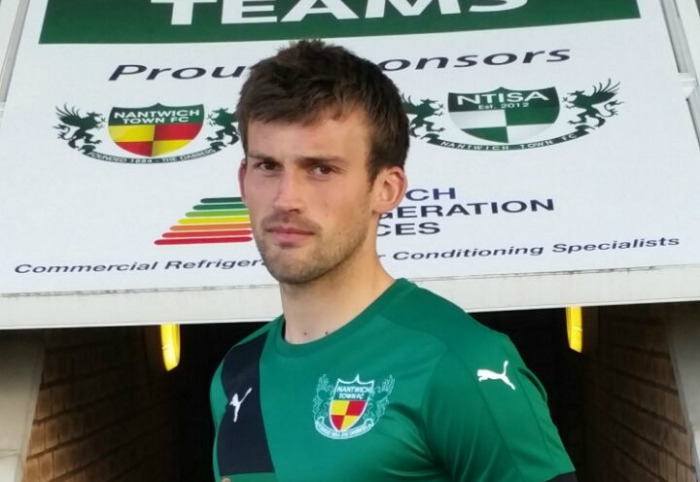 Sam Hall, new signing for Nantwich Town
