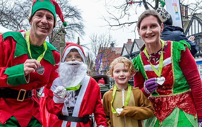 Santa Dash Nantwich, Hope House Hospice 10