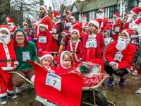 Hardy Nantwich folk complete Santa Dash in aid of Hope House Hospice