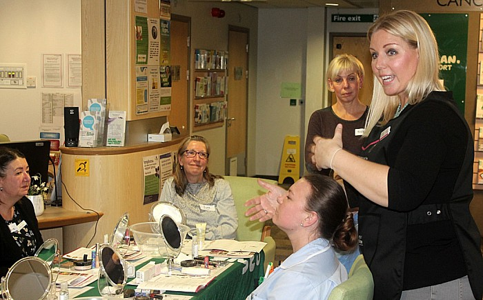 Sarah Addis talks staff and beauty volunteers through the 12-step programme