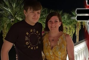 Sarah Smith and son Cam
