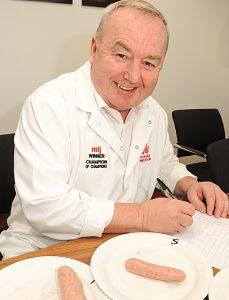 Butcher Stephen Vaughan - sausage judge