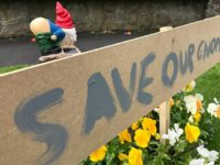 Wistaston's mooning gnomes removed by Cheshire East highways