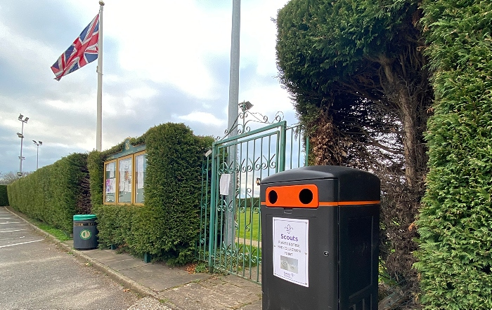 Scouts plastic bottle end collection point in Wistaston (3)