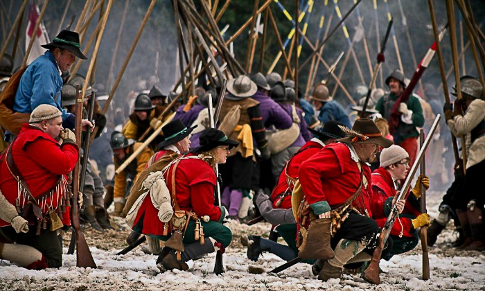 Sealed Knot at Battle of Nantwich