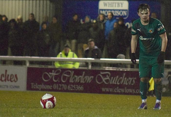 Sean Cooke prepares a free-kick