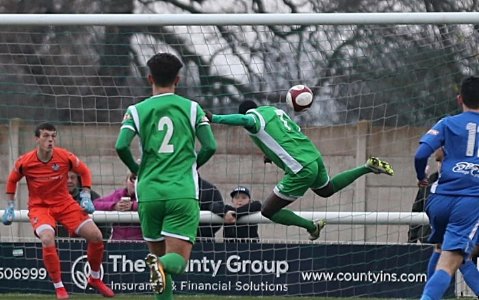 Second Nantwich Town goal - Joe Mwasile heads it home v Marine (1)