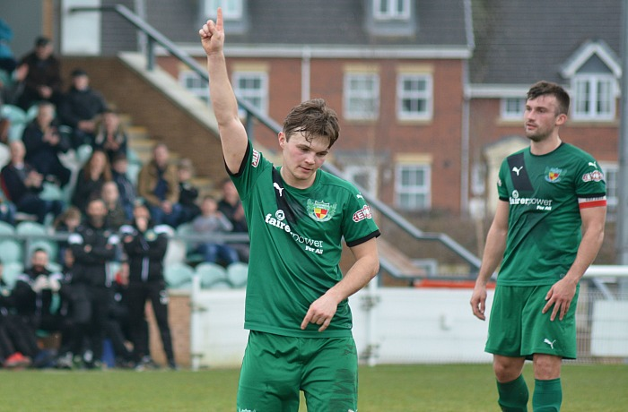 Second goal - Sean Cooke celebrates v Coalville