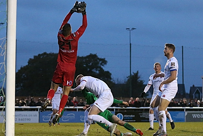 Second-half - AFC Fylde keeper Lavercombe collects the ball (1)