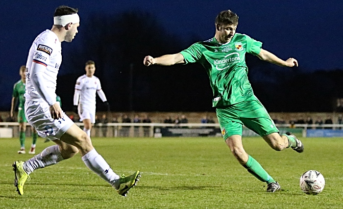Second-half - Ben Harrison crosses the ball (1)