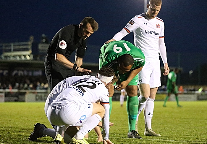 Second-half - Clayton Mcdonald kindly fends for an opposition player (1)