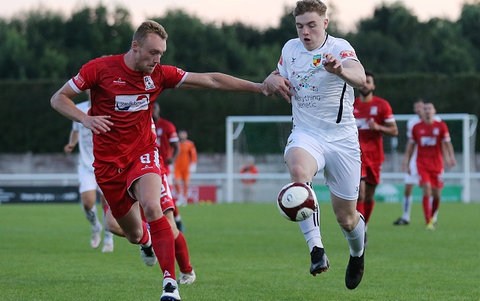 Second-half - Connor Heath on the attack for the Dabbers (1)