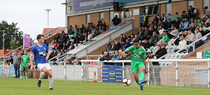 Second-half - Dabbers cross the ball in front of The Swansway Stand (1)