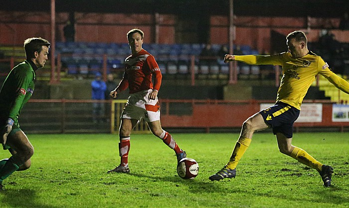 Second-half - David Forbes shoots at goal