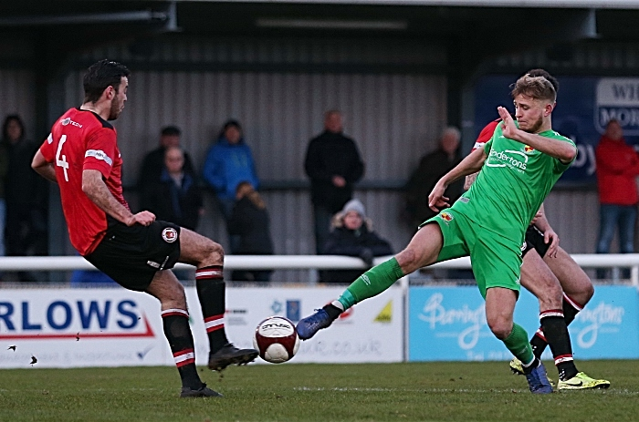 Second-half - David Webb fights for the ball (1)