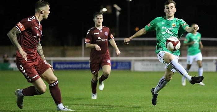 Second-half - Jack Hatton controls the ball (1)