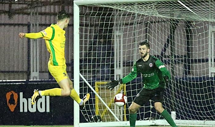 Second-half - Joe Malkin goal is disallowed for off-side