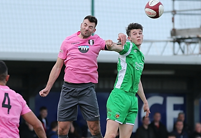 Second-half - Joe Malkin rises to win the header (1)