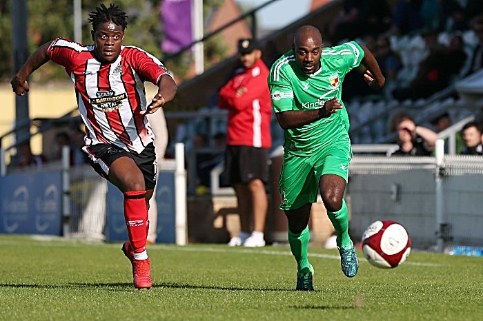 Second-half - Joe Mwasile chases the ball (1)