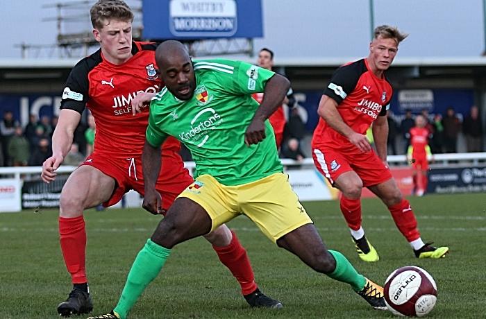 Second-half - Joe Mwasile on the ball (1)