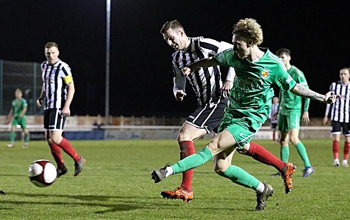 Second-half - Luke Wall crosses the ball (1)