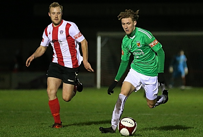 Second-half - Luke Walsh on the ball v Witton