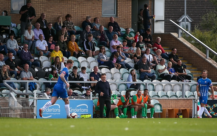 Second-half - Manager Dave Cooke on the touchline (1)