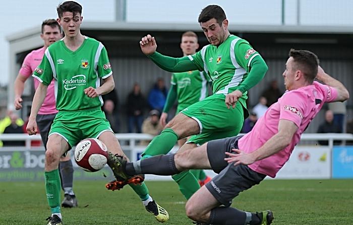 Second-half - Matt Bell challenges for the ball (1)