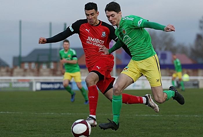 Second-half - Matty Devine on the ball (1)