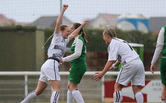 Second-half - Molly Tasker (left) celebrates her goal with Kirsty Fisher-Sherratt (1)