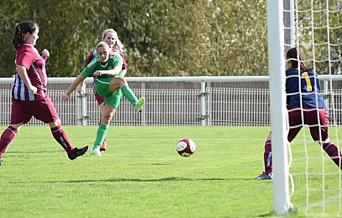 Second-half - Nantwich Town Ladies FC shoot at goal (1)