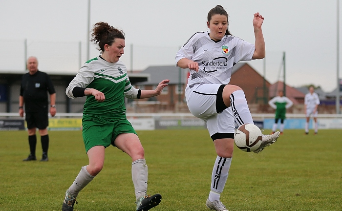 Second-half - Nantwich Town Ladies player controls the ball (1)