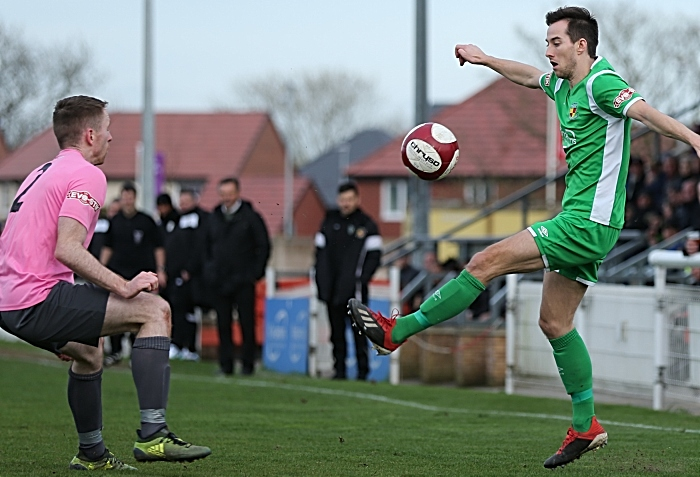 Second-half - Nathan Cotterell controls the ball (1)