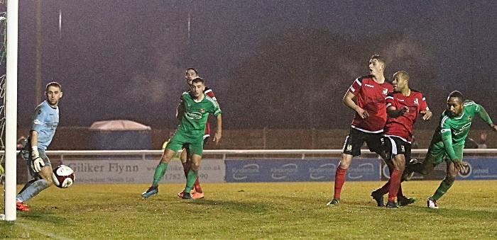 Second-half - Ricardo Fuller header hits the post (1)