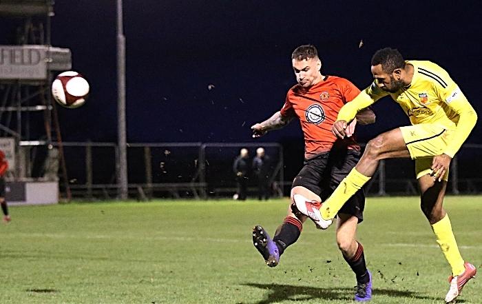 Second-half - Ricardo Fuller shoots at goal (1)