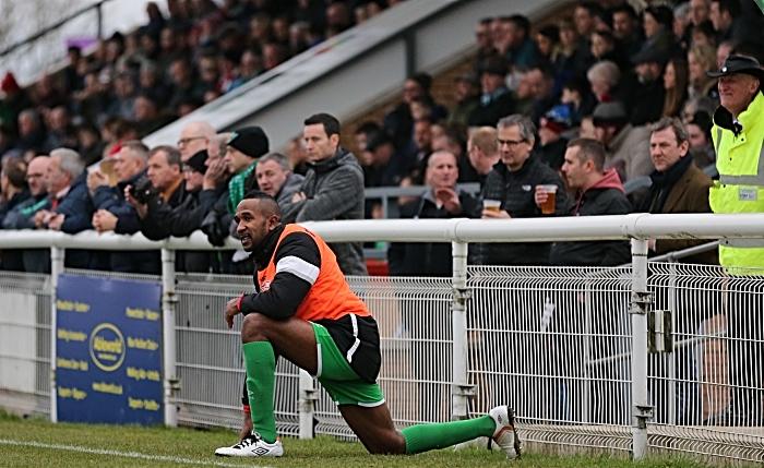 Second-half - Ricardo Fuller warms up (1)