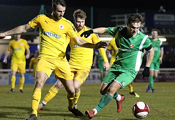 Second-half - Sean Cooke eyes the ball (1)