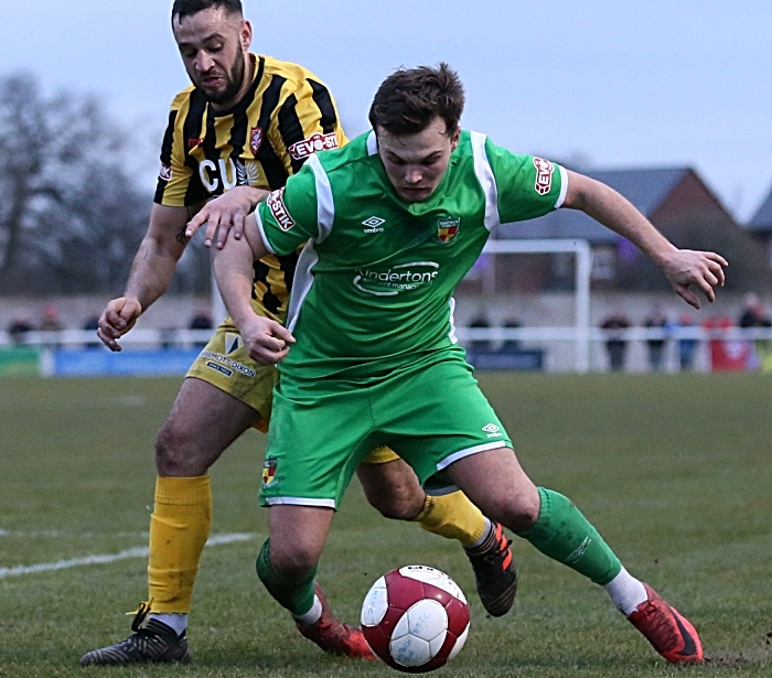 Second-half - Sean Cooke is fouled (1)