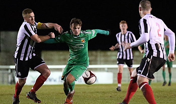 Second-half - Sean Cooke on the ball under pressure (1)