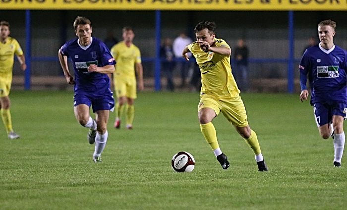 Second-half - Sean Cooke pushes towards goal (1)