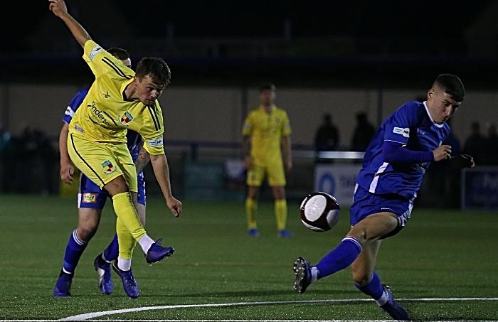 Second-half - Sean Cooke shoots at goal (1)