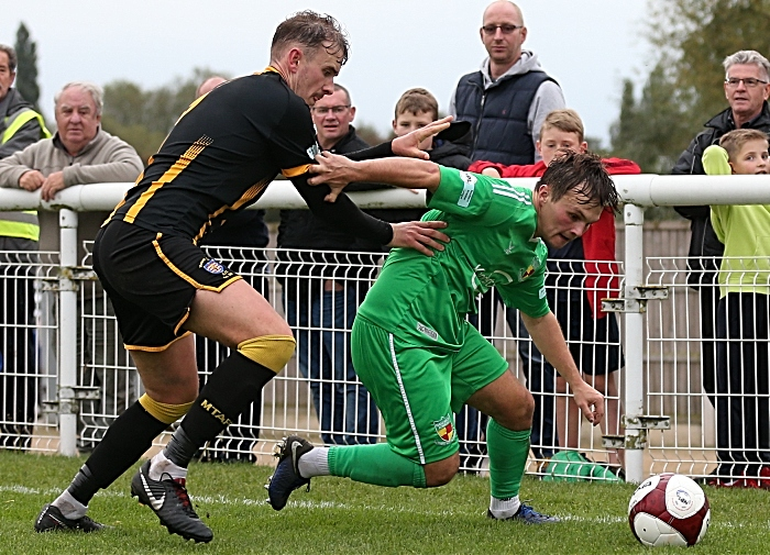 Second-half - Sean Cooke takes the ball to the corner (1)