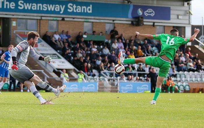 Second-half - Thommy goes close in blocking Basford keeper Adam Collin (1)