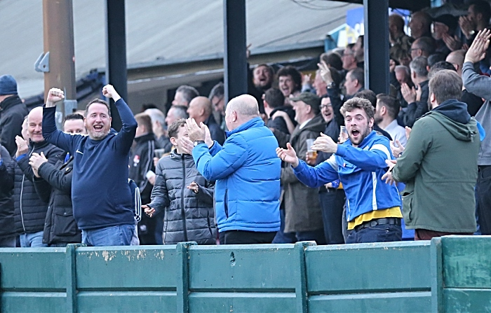 Second-half - Warrington Town celebrate their late equalising goal (1)