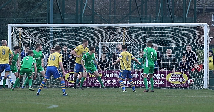 Second-half - Warrington Town equalise in injury time (1)