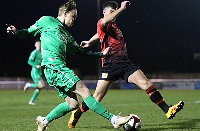 Second-half - Will Saxon crosses the ball (1)