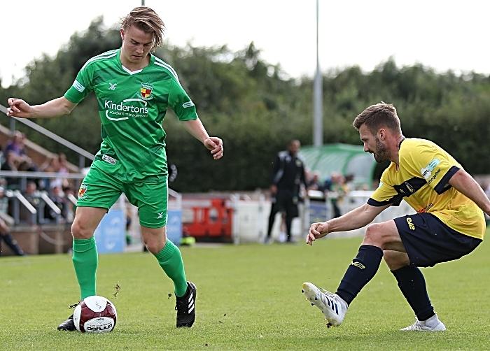 Second-half - Will Saxon on the ball (1)