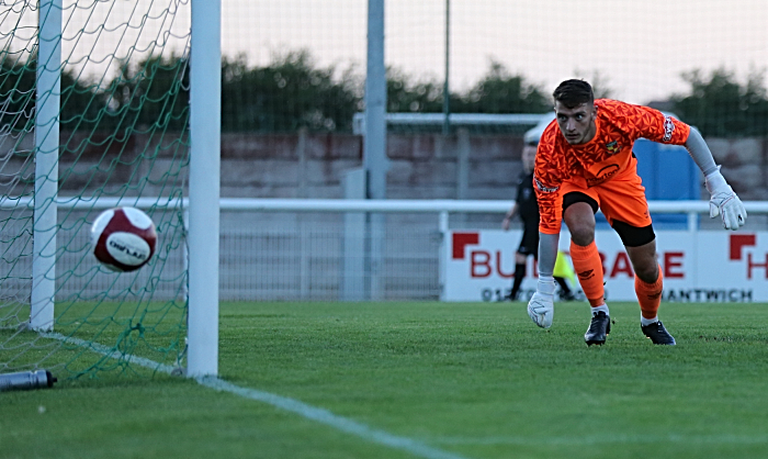 Second-half action - Andy Wycherley in goal for Nantwich (1)